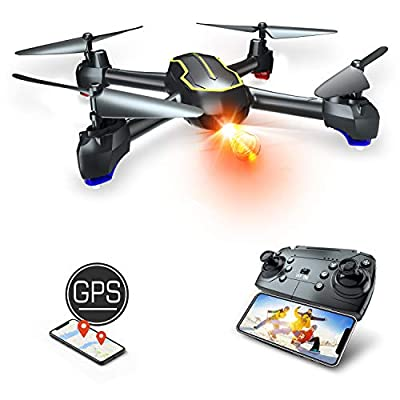 Asbww | GPS Drone with HD 1080p Camera for Beginners & Adults - FPV WIFI Drones RC Quadcopter with GPS Auto Return / 16 minutes Flight Time / 1080P HD WiFi Live Video