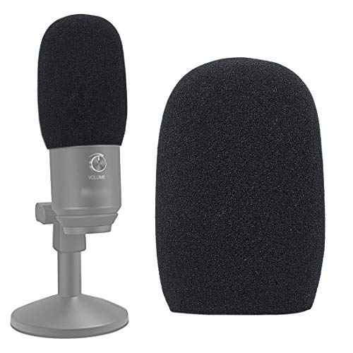 Foam Mic Windscreen, Pop Filter Wind Cover Compatible with Fifine K670 USB Condenser Recording Microphone by SUNMON