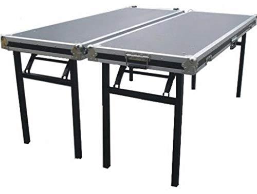 TEGO PRO 103753 Casetisch 2-Tische-Case TB-2 Tischgröße (LxBxH) 160 x 60 x 92 cm Klapptisch Flightcase