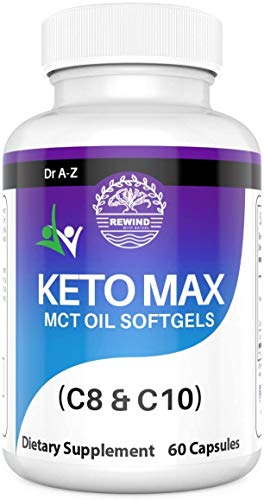 Rewind with Nature Detox Cleanse Keto Advanced Weight Loss with Psyllium Fiber Dietary Supplement Energy Booster Burn Fat Keto Boost Smart Keto with Fiber Easy to Go by Dr A-Z - 60 Capsules