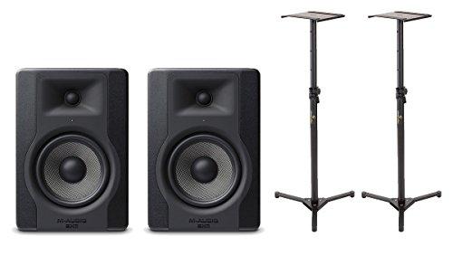 M-AUDIO Coppia BX5 D2 Studio Monitor/Stand/Borsa per Cavi Bundle
