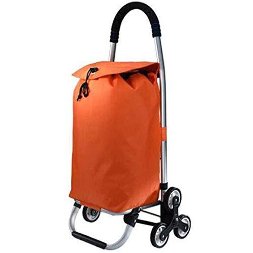 Carro de la Compra Aluminio Ligero Aleación fácil de Plegar 2 en 1 Fácil de Transportar Carro de la Compra 35L Gran Capacidad para Que los Ancianos y los niños compren Alimentos, N