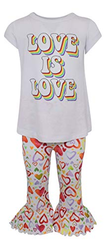 Unique Baby Girls Love is Love LGBTQ Rainbow Gay Lesbian Pride Kids Outfit (5)