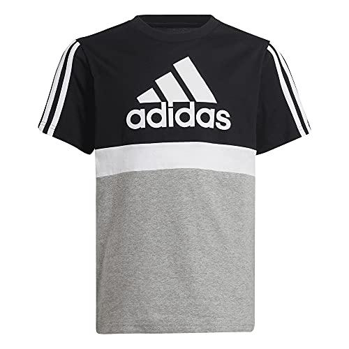 adidas B CB T, T-Shirt (Short Sleeve) Fille, Black Medium Grey Heather White, 5 Anni