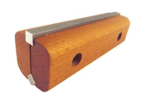 Afilador de cuchillos de diamante para juntas/cepilladora, grano 300 y 600 en soporte de madera con piedras de afilado reversibles KH-10D