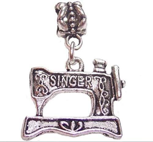 Silver Knight Abalorio tibetano de plata retro para máquina de coser Singer...