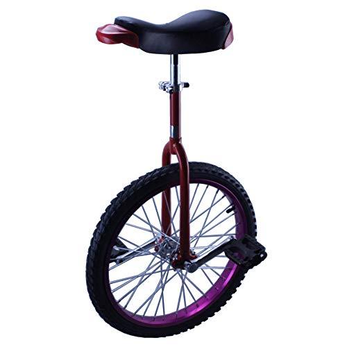 Einrad,Erwachsene Teenager Skidproof Balance Competitive Acrobatics Einrad Fahrrad Geeignete HöHe üBer 180CM Maximale Belastung 170KG / 24 Zoll/lila