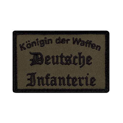 Café Viereck ® Bundeswehr Deutsche Infanterie Morale Patch Gestickt mit Klett - 7 cm x 4,5 cm