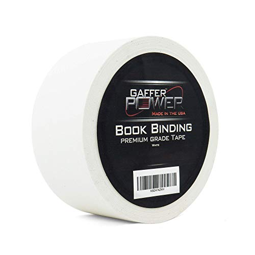 Bookbinding Tape by Gaffer Power, White Cloth Book Repair Tape Safe Cloth Library Book Hinging Repair Tape, Made in The USA, Acid Free and Archival Safe, 2' X 15 Yards