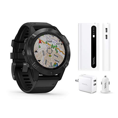 Best Bargain Garmin Fenix 6 Pro Black with Black Band, Premium Multisport GPS Watch (010-02158-01) a...