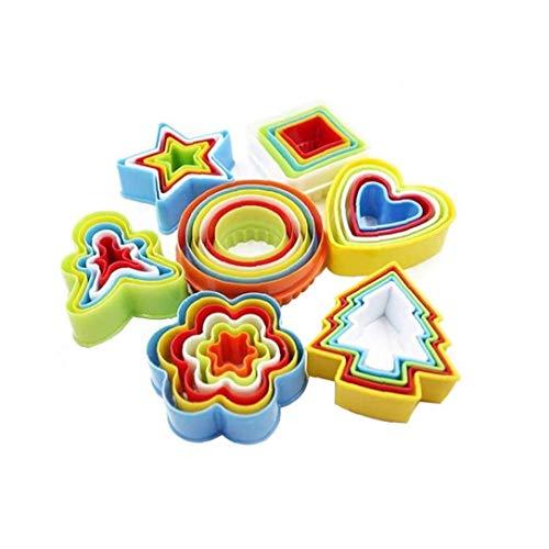 Hiinice Formas Conjunto de Cookies moldes de plástico de Varios tamaños Sandwich Ronda Flor de la Estrella del corazón Gingersnap Moho Multicolor por Bizcochería 35PCS