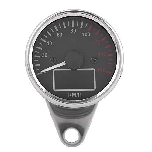 LED LCD Velocímetro - Medidor universal 0~160 km/H de la motocicleta LED Digital LCD Velocímetro Tacómetro velocidad