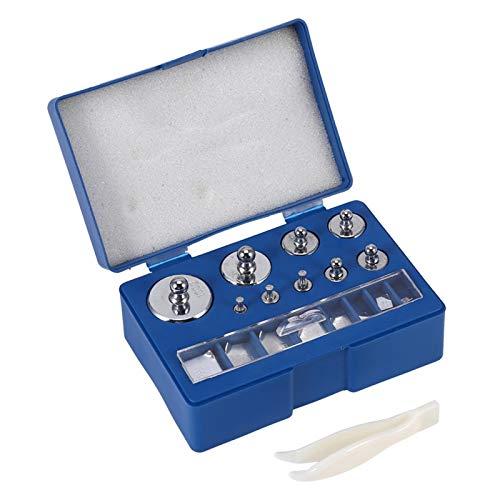 Juego de pesas de escala de 17 piezas 211.1g 10mg-100g gramos Juego de pesas de calibración de precisión para báscula de balanza digital Báscula de joyería