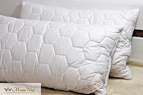 Confezione da 2 cuscini standard in lana merino, 45 x 75 cm, 1000 g/m², 2 pezzi
