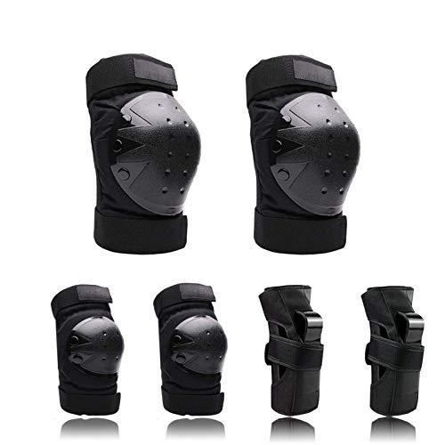 Adult/Kids/Youth Knee Pads Elbow Pads Wrist Guards Protective Gear Set for Skateboarding Inline Rollerblading Roller Skating Cycling Bike BMX Bicycle Scooter Snowboarding 3 in 1