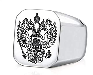 Men's Silver Plated Ring with Falcon Logo size 7