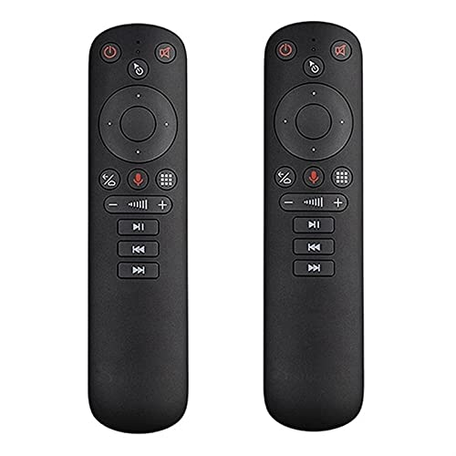 SHY-RC 2Pcs Smart Voice Remote Control G50S Fit For X96 Mini H96 MAX X3 PRO Android TV Box G50 Wireless Air Mouse Gyroscope (Color : Black)