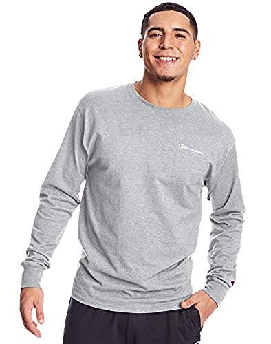 Champion Classic tee Camiseta, Gris, M para Hombre
