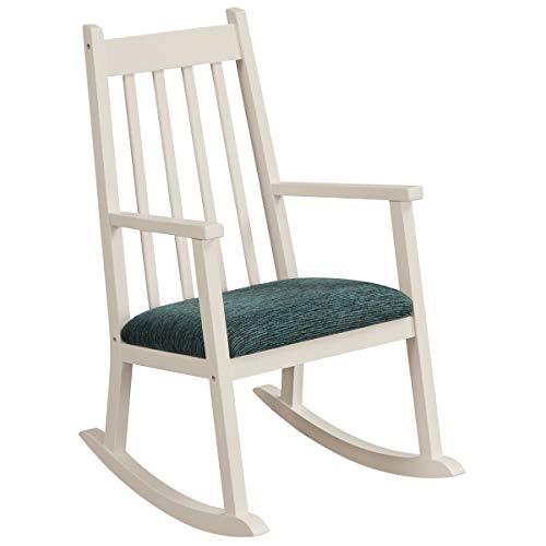 Costzon Child's Rocking Chair, Wooden Porch Rocker w/Cushion, 120 lbs Weight Capacity, Ergonomic Kids Rocker for Toddler Boys Girls, Classic Rocker for Kids Room, Kindergarten, Porch Indoor Outdoor
