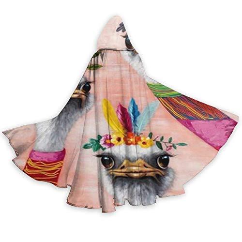 Capa con Capucha Indio Americano Tres Llama Alpaca Disfraz De Fiesta Unisexo Disfraz De Bruja Talla Unica Larga Disfraz para Adultos Hombre 150X40Cm