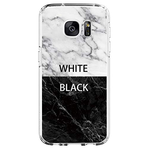 Layeri Compatible con Samsung Galaxy S6 Edge, Funda de mármol Transparente, Silicona, Ultrafina, Suave, TPU, diseño de Flores, Funda Resistente a los arañazos, antigolpes, antiarañazos