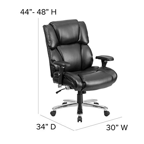Flash Furniture HERCULES Series 24/7 Intensive Use Big & Tall 400 lb. Rated...