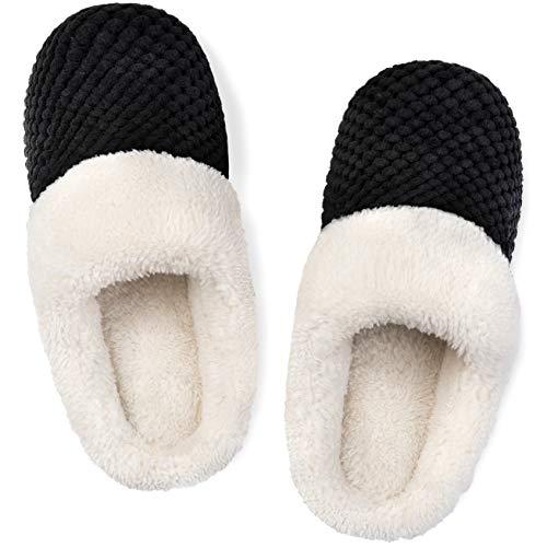 ULTRAIDEAS Women's Comfort Coral Fleece Memory Foam Slippers Fuzzy Plush Lining Slip-on Clog House...