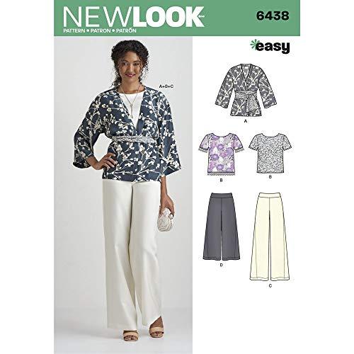 New Look Easy Pantalones/Kimono patrón de Costura y la Parte Superior, Papel