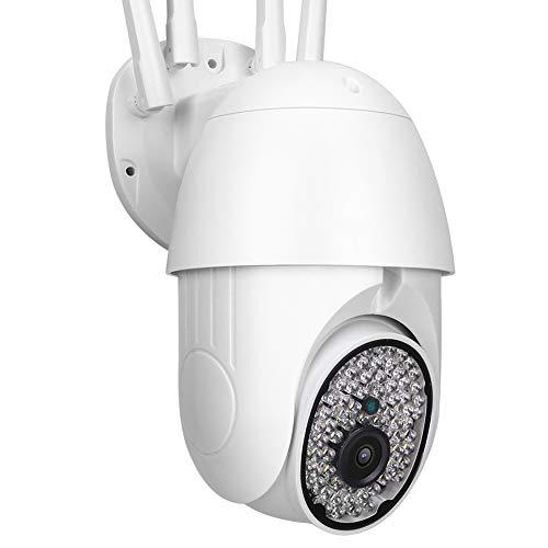 Cámara de Seguridad PTZ WiFi IP, cámara Domo CCTV 1080P, Exterior, cámara de Seguridad inalámbrica, con Monitor panorámico Impermeable, para el hogar/Exterior(EU)