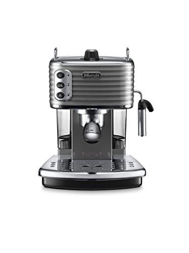 De'Longhi ECZ351.GY Macchina per Caffè Espresso Manuale Scultura, 1100 W, Acciaio inossidabile , Grigio