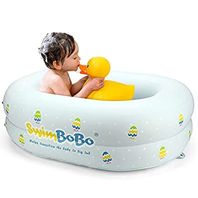 Inflatable Bathtub for Baby Travel Bathtub Seat Recommended Age 6 to 24 Months(Large)