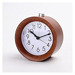 gzynyl Desk Alarm Clock Gold Mechanical Alarm Clock Horseshoe Manual Wind Up Vintage Metal Watch Double Bell Watches with Backlight Projector Modern 5