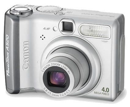 Canon PowerShot A520 Digitalkamera (4 MP, 4-fach Zoom)