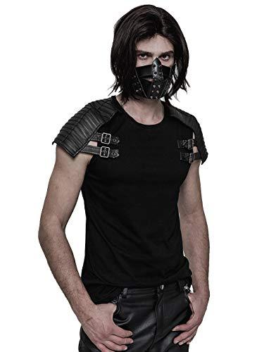Punk Rave Männer schwarz Gothic Steampunk PU Leder Niet Maske Persönlichkeit Cosplay Party Club Zubehör