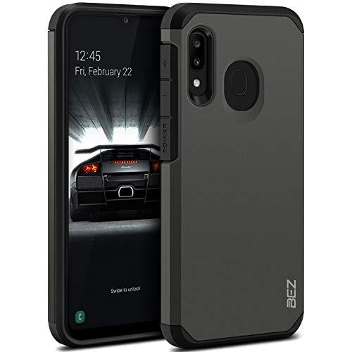 BEZ Handyhülle für Samsung Galaxy A20e Hülle, Tasche Stoßfestes Kompatibel für Samsung A20e, [Heavy Duty Serie] Outdoor Dual Layer Armor Hülle Handy Schutzhülle Robuste, Grau