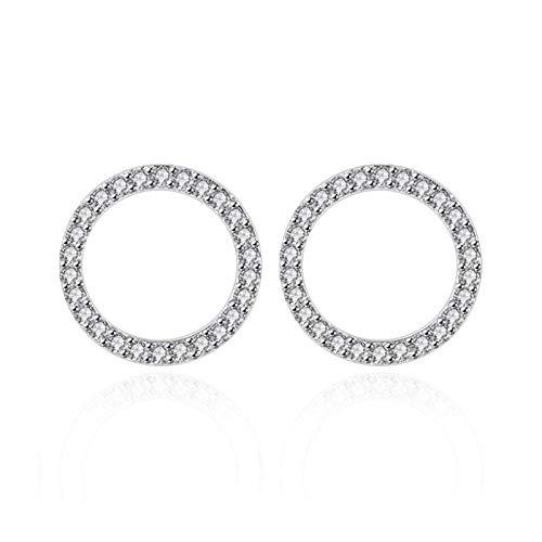 Xx101 Sterling Silver Geometric Stars Heart-shaped Square Inlaid Zircon Earrings Women's Silver Jewelry Nixx0 (Color : Heart)