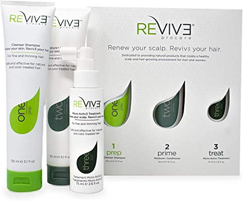 REVIV3 Procare 30 Day Trial Kit - 3-Part System for Fine and Thinning Hair - Sulfate and Paraben...