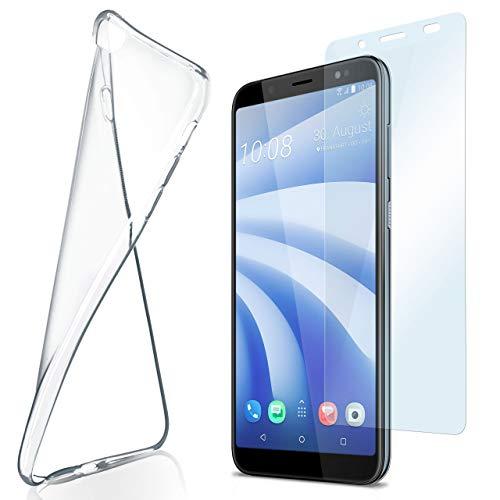 moex Aero Case mit Panzerglas für HTC U12 Life - Hülle mit Schutzfolie, transparent - Crystal Clear