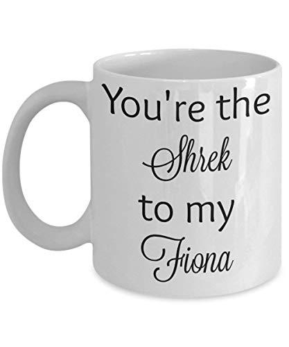 Mug You39Re The Shrek To My Fiona Pareja Famosa Taza De Té Unisex Blanca Leche Personalizar Cumpleaños Taza De Café Cerámica 330Ml Novedad