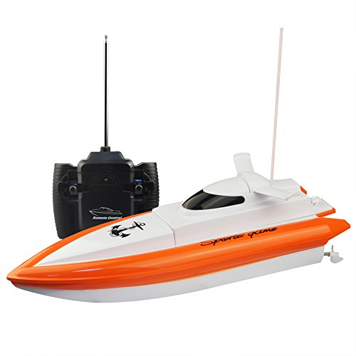 RC Boat,KingPow-DeXop  High Speed Electric Fast RC Boat Radio Remote Control Boat(The Motor And Paddle Have No Reaction On The Land)