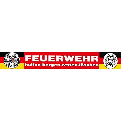 Auto-Aufkleber Applikation - FEUERWEHR helfen-bergen-retten-löschen -307785/3 - Gr. ca. 20 x 4cm - Feuerwehr Firefighter Rettungshelfer