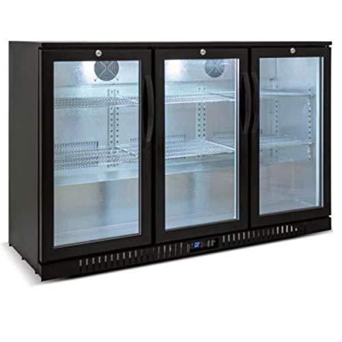 Back bar Cooler 3 Glass Door 53 Beer Fridge Beverage Refrigerator Under Counter Height 35°-46°F Black