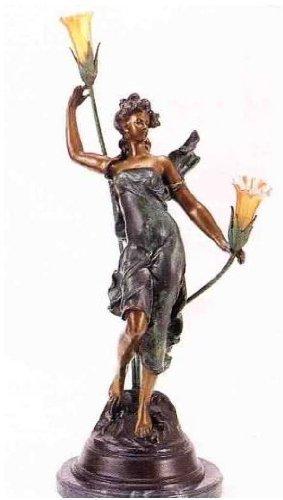 Bronze Woman Sculptural Lamp