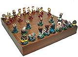 Juego de ajedrez portátil Juegos de ajedrez China Chess Chess Chess Chess CheckerBoard de la resina Piezas de ajedrez Figura Conjunto de ajedrez, para regalos de cumpleaños Regalos de ajedrez Ajedrez