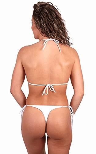 Conjunto Bikini Brasileno Mujer - Bikinis Brasiliañas - Bikini de Tirantes - Bañadores De Mujer - Biquini Vikini - Trajes de Baño Mujer - Bikini Sexy - Bikinis Braga Brasileña - Talla única (XS/S/M)