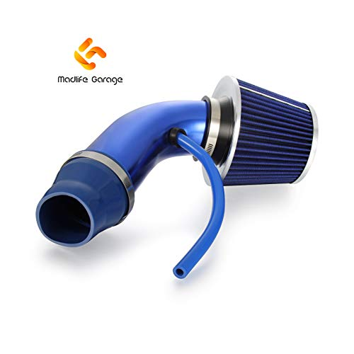 "BLUE 3/""-3.5/"" AIR INTAKE//PIPING RUBBER REDUCER COUPLER FOR FORD"