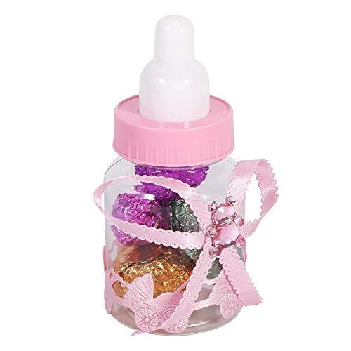 Flaschen-Süßigkeit-Kasten-50Pcs Süßigkeit Schokolade Flaschen Box for Baby-Duschen-Party-Geschenke Dekorationen Bevorzugungen (Pink)