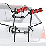Walmann Bike Trunk Mount 3-Bike Car Carrier Rack for Auto-Mobile Bicycle Rack Fits Most Cars, Sedans, Hatchbacks, Minivans and SUVs Trunk Bike Rack