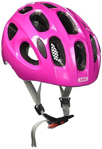 ABUS Youn-I Kinderhelm - Fahrradhelm für Kinder mit LED-Rücklicht für den Alltag - für Mädchen und Jungen - 12836 - Pink (funkelnd), Größe S
