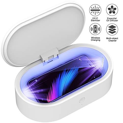 IFLOVE Handy Desinfektion Sterilisator UV Box Telefon Reiniger Desinfektor für Smartphone Kabelloses Laden